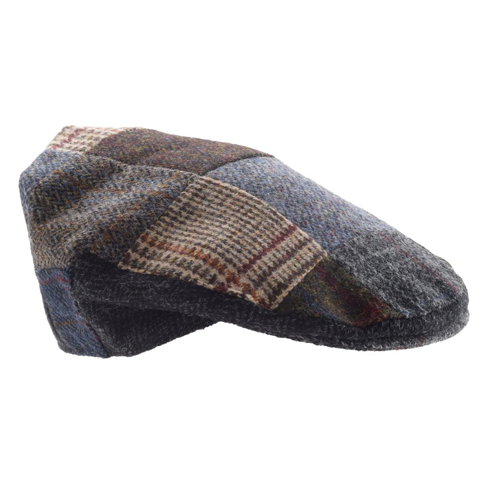 8266e0a800e6e Lambland Mens Traditional Patch Harris Tweed Flat Cap on OnBuy