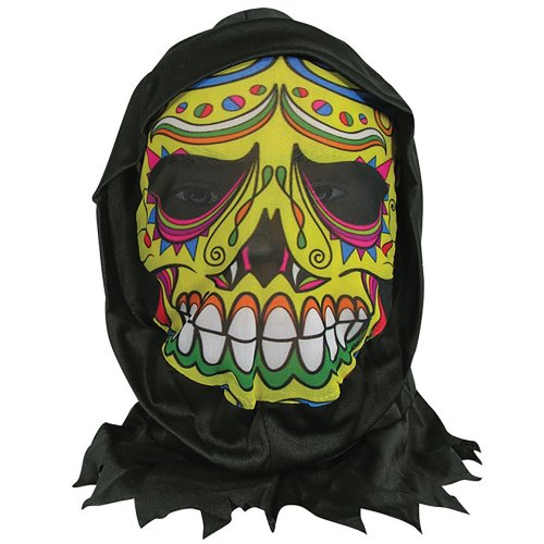 Skin Mask W/Hood Day of the Dead