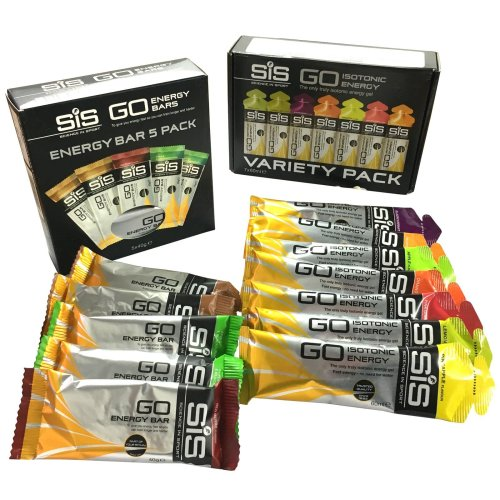 SIS Go Isotonic Energy Gel Pack & Go Energy Mini Bar Pack (Mixed Flavours)