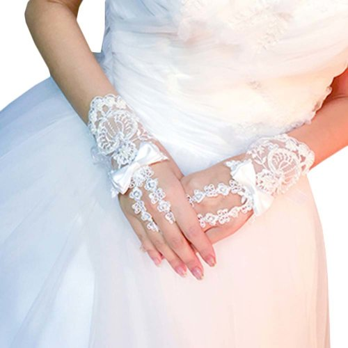 Bridal Wedding Gloves Party Dress Lace Short Gloves B04