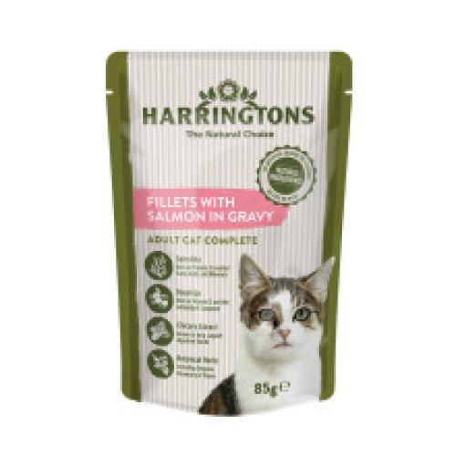 Harringtons Wet Cat Salmon  85g (Pack of 24)