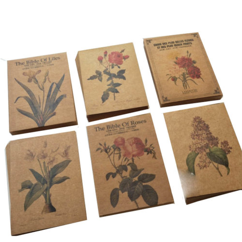 89 PCS Vintage Retro Old  Flowers Postcards for Worth Collecting