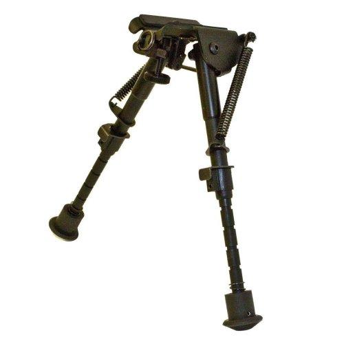 Bisley Rifle Bipod - Adjustable rifle field stand - lightweight aluminium