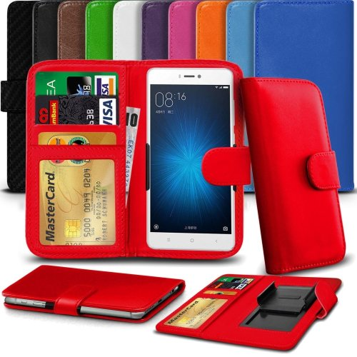 """iTronixs - Doogee X5 Max (5"""") High Quality Clamp Style PU Leather Wallet Case Cover"""