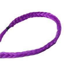 Charming [Purple] Fiber Hair Extension Long Cosplay Wigs Braid Plaid