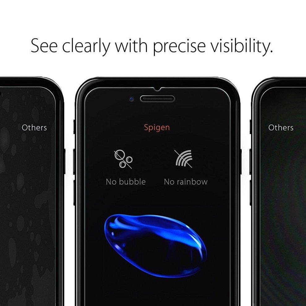 promo code 6fc8e 83bb5 Spigen 2 Pack, iPhone 7 Plus/8 Plus Screen Protector, Bubble-Free,  Case-Friendly, iPhone 7 Plus Tempered Glass, iPhone 8 Plus Glass Screen...