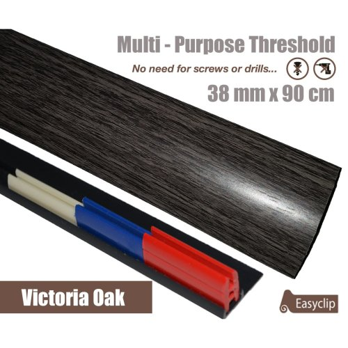 Victorian Oak Multi Purpose Threshold Strip 390cm Adhesive Clip System
