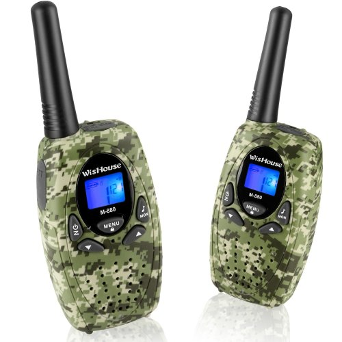 WisHouse Two Way Radios for Family Travel, PMR446 Walkie Talkies with Mic Vox Clip 0.5w 2.5mm Jack 3 Mile Range 8 Channels Noise Cancelling Walki...