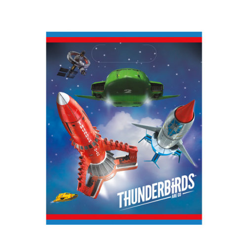 Unique Party 8 Thunderbirds Loot Bags - Go -  thunderbirds party bags 8 go loot