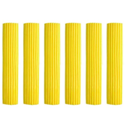 Set of 6 Foldable Sponge Mop Replacement Heads, Good Absorbent [D]