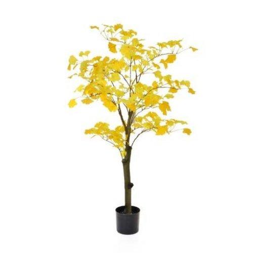 Artificial Silk Gingko Golden Tree  - 120cm, Yellow