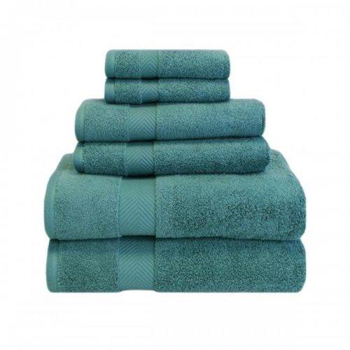 Superior ZT 6 PC SET JD Zero Twist Cotton Towel Set - Jade, 6 Pieces