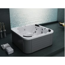 Outdoor Spa - Heated - 40 Jets - Acrylic and Wood -  SANREMO