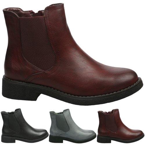 Soraya Womens Low Heel Chelsea Style Ankle Boots