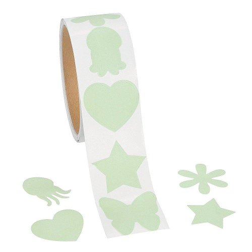 Fun Express Glow In The Dark Shapes Sticker Roll