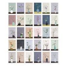 30PCS 1 Set Creative Postcards Artistic Beautiful Postcards, Years of Flowers