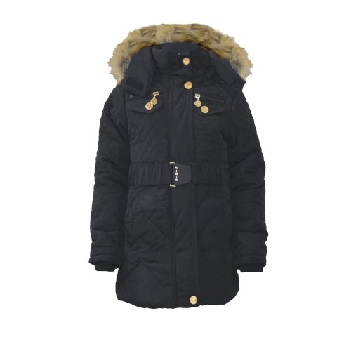 Girls Long Belted Winter Coat