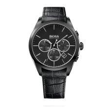 Hugo Boss 1513367 Mens Black Stainless Steel Band Black Dial Watch