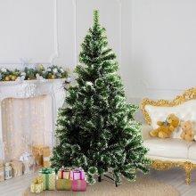 Homcom Christmas Tree Artificial Xmas with Metal Stand