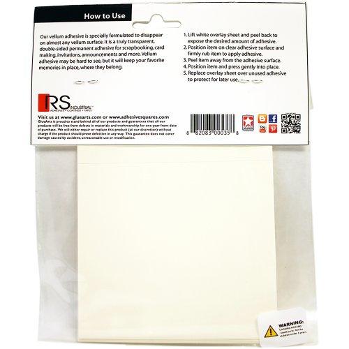 """Glue Arts Vellum Instant Adhesive 10/Pkg-4""""X4"""""""