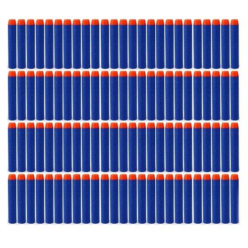 YW-WINN 100 Pcs 7.2cm Refill Foam Darts Bullet for Nerf N-strike Elite Series Blasters Kid Toy Gun Refill Pack Blue