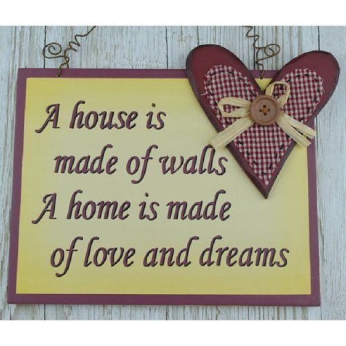 Wall Plaque A House Is Made Of Walls A Home Love & Dreams