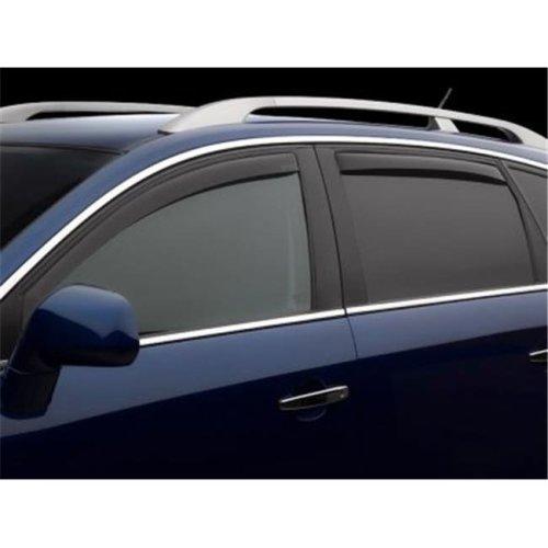 Weathertech W24-82512 Front & Rear Side Window Deflectors for 2009-2014 Nissan Murano, Dark Smoke
