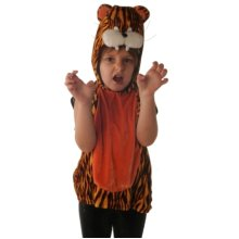Tabard Child Tiger 3-4 Year -  tabard dress tiger fancy costume 35 striped childrens animal christmas nativity girls boys