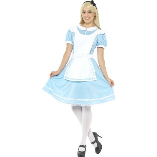 Smiffy's 41012m Blue Wonder Princess Costume - Ladies Alice Fancy Dress Book -  ladies costume alice fancy dress book week wonder princess womens