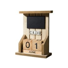 Wooden Permanent Calendar Creative Calendar Decoration For Home / Office -A6