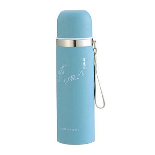 500ML Stainless Steel Travel Mug Drink Bottle, Light Blue