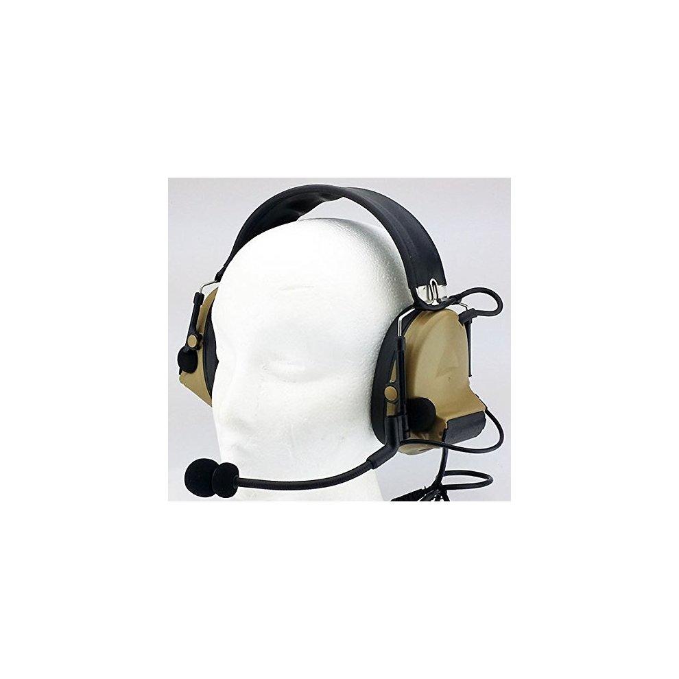 5f6a3b0c9c9 ... AIRSOFT TOMTAC COMTAC II 2 HEADSET MIC BOOM RADIO PELTOR DESIGN TAN DE  - 2 ...