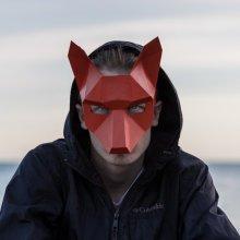 DIY Paperwork Animal Fox Head Mask Halloween