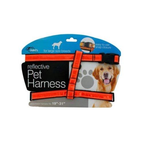 Kole Imports DI553-8 Large Reflective Dog Harness - Pack of 8