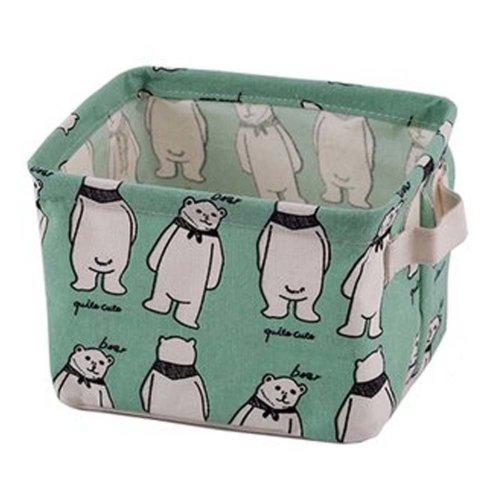 Desktop Organizer Bag Storage Box Folding Storage Basket #16