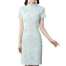 Elegant Chinese Dress Qipao Dresses Cheongsam Women Clothing Skirt XXL-02