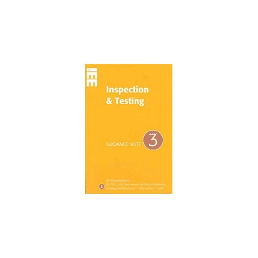 Used Guidance Note 3 To Iee Wiring Regulations Bs7671 Inspection Iet 17th Edition Book And Testing Notes For