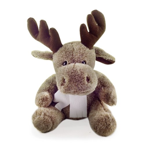 George the Soft Brown Cute Sitting Fluffy Brown Christmas Reindeer Toy or Ornament