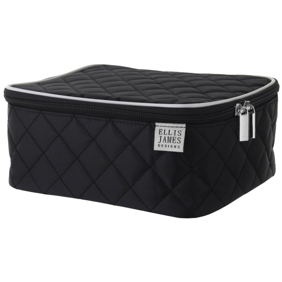 627a758748a550 ... Ellis James Designs Travel Make Up Bag for Women - Black Makeup Bag -  2- ...