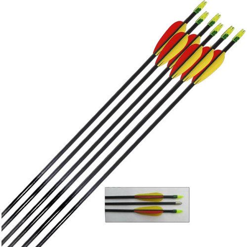 Petron Archery Target Arrows Fibreglass 28 inch - round ends