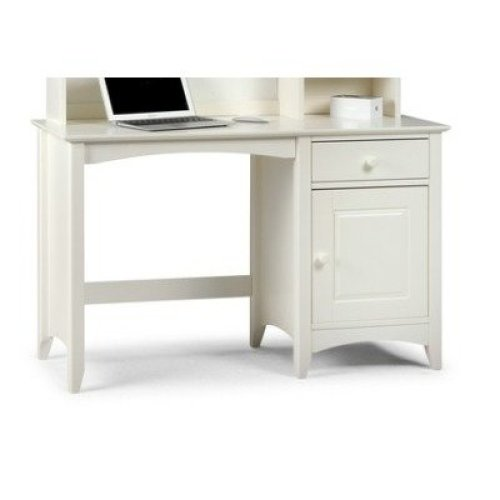 Treck White Stone Desk - 1 Door 1 Drawer - Fully Assembled Option Flat Pack No Chair No Hutch