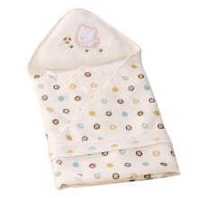 Lovely Baby Receiving Blankets Summer Hooded Swaddleme Dot Pattern,Yellow