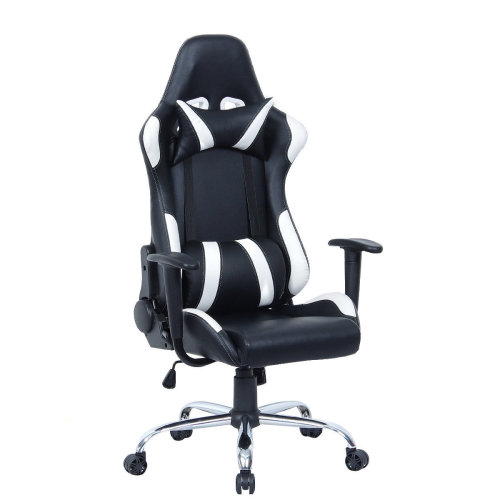 RECLINING LEATHER SPORTS RACING OFFICE CHAIR