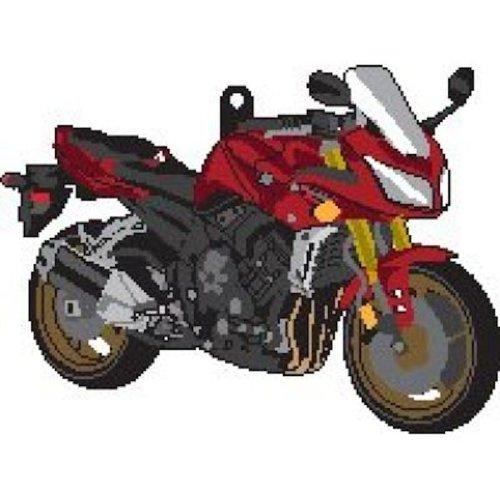 Yamaha FZ-1 Fazer 1000 rubber key ring motorcycle gift keyring & chain