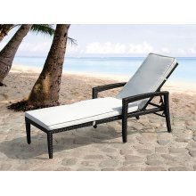 Outdoor Lounge Chair - Adjustable Wicker Sun Lounger - PERUGIA