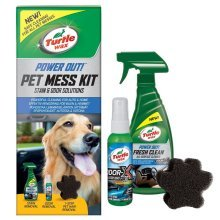 Turtle Wax Pet Mess Kit Pet Stain, Odour & Hair Remover for Home or Car