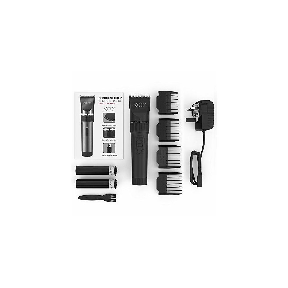 02ed8f11d64 Abody Hair Clipper Cordless Hair Trimmer Rechargeable Hair Shaver Ceramic  Titanium Blade for Mens and Babies ...