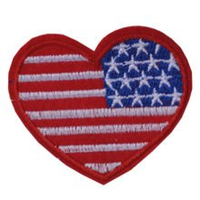 Set of 2 Creative Lovely Heart-Shaped Patches Armband Badge Applique 2.7*2.3""