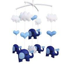 Infant Crib Musical Mobile, [Elephant] Boys/Girls Non-Woven Fabric Toys