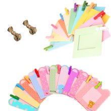 Wall Deco DIY Paper Photo Frame with Mini Clothespins - Fits 3 inches Pictures F